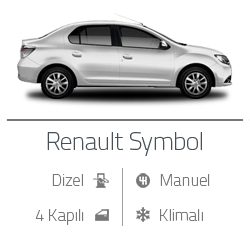 kiralık araç renault symbol